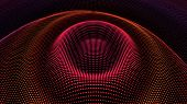 Circle Ripple Radial Pulse Effect. Particle 3d Wavy Drip Drop To Surface. Background Grid Structure. poster