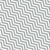 Simple Vector Seamless Pattern With Diagonal Stripes, Lines, Chevron, Zigzag. Blue And White Color.  poster
