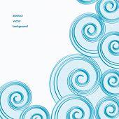 Fundo de vector de ondas de água azul abstrato.