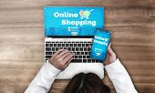 Shopping Online And Internet Money Technology poster