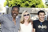 LOS ANGELES, CA - JULY 06:  Ernie Hudson; family at the premiere of 'The Zookeeper' at the Regency V