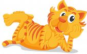 Tiger laying down on white - EPS VECTOR format also available in my portfolio.