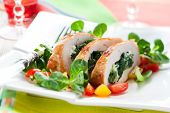 Turkey breast stuffed with spinach and cheese