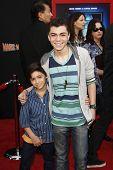 LOS ANGELES - MARCH 6: Jake Irigoyen, Adam Irigoyen at the World Premiere of 'Mars Needs Moms' held