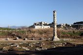 picture of artemis  - Ruins of Temple of Artemis in Efes Selcuk Turkey - JPG