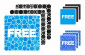 Free Items Mosaic Of Circle Elements In Various Sizes And Shades, Based On Free Items Icon. Vector C poster