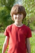 The Fair-haired Boy In A Red T-shirt