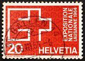Postage stamp Switzerland 1963 EXPO Emblem, Lausanne, 1964