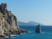 Parus Rock - A Low Rock On The Southern Coast Of Crimea, Which Is Part Of The Cape Limen-burun. Afte poster
