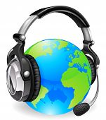 Help Desk Headset World Globe