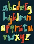 Colorful 3d lower case alphabet set