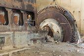 Viejo Diesel motor con Rotor
