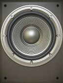 stock photo of subwoofer  - A musical bass sound subwoofer icon - JPG