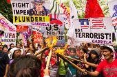 Protesto de dia internacional da mulher em Manila