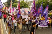 Protesto de dia internacional da mulher na Ásia