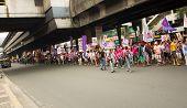 Protesto do dia internacional da mulher