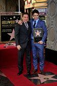 LOS ANGELES - 7 de MAR: Kevin Huvane, James Franco en una ceremonia como James Franco es honrado con una estrella