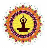 Yoga lotus posture