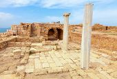 Ruins of Roman city of Caesarea in Israel