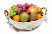 A Small Set Of Fruit In A Basket