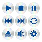 Music Player Buttons. Vector Illustration