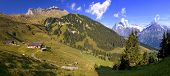 This Is A Hiking Trail Near Grindelwald In The Canton Of Bern In Switzerland. Panoramic View Of Snow