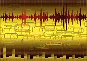 image of recording studio  - Abstract music background with retro design elements - JPG