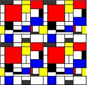 Nahtlose Mondrian-Muster