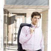 Happy Businessman Outdoor