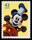 Disney Mickey Mouse Postage Stamp