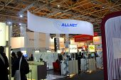 Hannover, Germany - March 9: Stand Of Allnet On March 9, 2013 In Cebit Computer Expo, Hannover, Germ