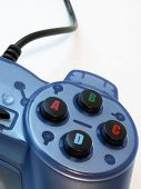 picture of video game controller  - blue video game controller - JPG