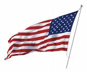 Vector image of American flag waving