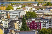 image of bonnes  - aerial of Bonn the former capital of Germany - JPG