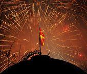 Fireworks of Macedonian flag