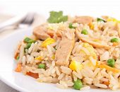 foto of curry chicken  - chicken fried rice - JPG