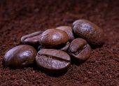 Coffee in beans and ground