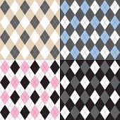 foto of harlequin  - Argyle pattern set - JPG