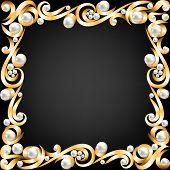 Pérolas e jóias de ouro Frame