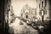 Vintage Image Of Venice Canals