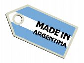 label with flag of Argentina