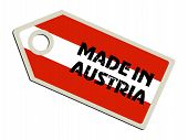 label with flag of Austria
