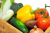 Vegtables In A Basket