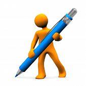 Bolígrafo grande de maniquí