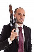Necktie And Shotgun