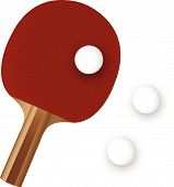 Pingpong Paddle And Ball