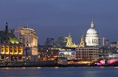 Evening View Of The Thames And St Paul's Cathedral. London