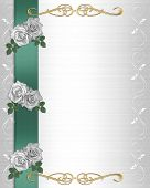 Wedding Invitation Border White Roses