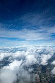 pic of float-plane  - Aerial sky and clouds background - JPG