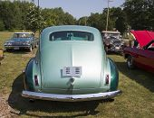 1941 Nash Ambassador Aqua Blue Car Rear View